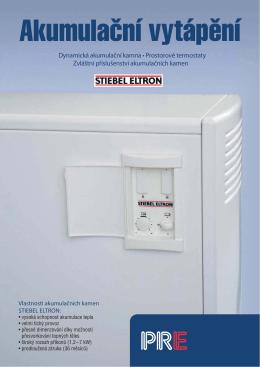 Dynamická akumulační kamna • Prostorové termostaty Zvláštní