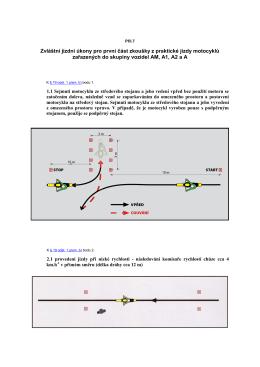 Příloha č. 7 k vyhlášce č. 167/2002 Sb. Zvláštní jízdní úkony pro
