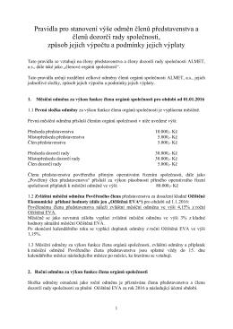 Almet Pravidla odměňování členů orgánů 2015