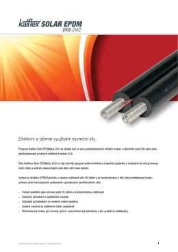Efektivní a účinné využívání sluneční síly.