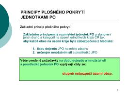 Principy plošného pokrytí jednotkami PO - Portál hasici