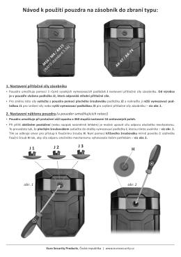 Návod k použití pouzdra na zásobník do zbraní typu: