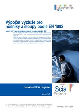 Výpočet výztuže pro nosníky a sloupy podle EN 1992