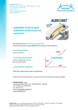 ALBROMET - W130, W200 Maximal - Maximální