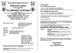 Kynologický klub Klánovice z pověření