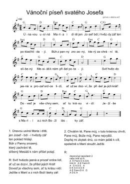 Vánoční píseň svatého Josefa