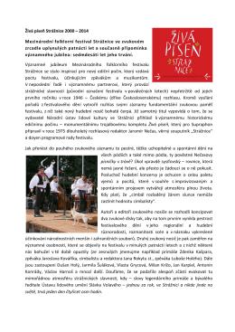 Živá píseň Strážnice 2000 – 2014 Mezinárodní folklorní festival