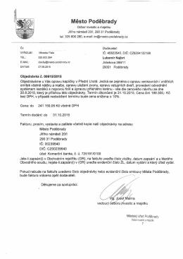 Objednávka ve formátu pdf.