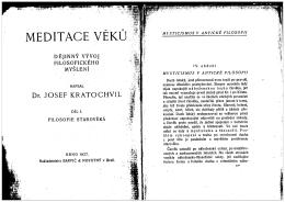 MEDITACE VEKU
