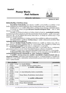 květen 2015 - Řád maltézských rytířů