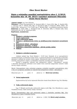 Zápis ze ZO č. 03/2015