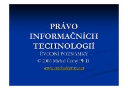 PIT - Právo informačních technologií