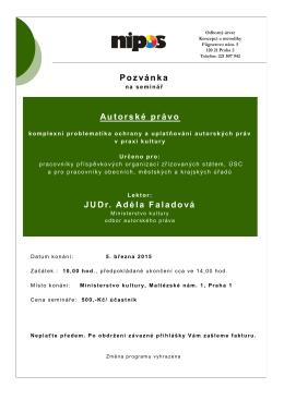 Pozvánka_autorské právo _březen 2015