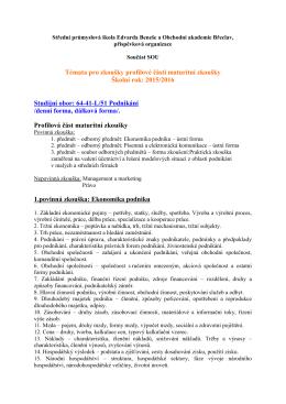 Podnikání - SPSBV.cz