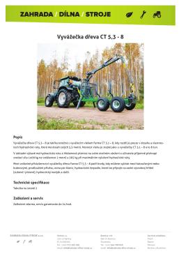 Vyvážečka dřeva CT 5,3 - 8 - Zahrada-Dílna