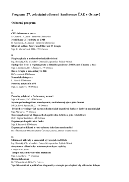 Program 27. celostátní odborné konference ČAE v Ostravě
