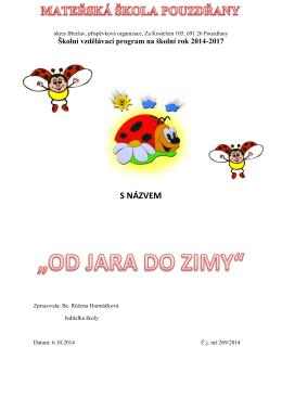 ŠVP - MŠ Pouzdřany