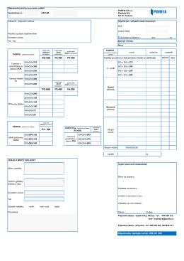 Objednávkový list ke stažení v pdf formátu