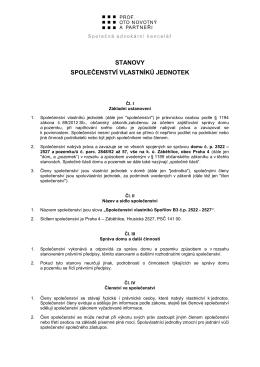 Stanovy SVJ - Společenství Spořilov B3