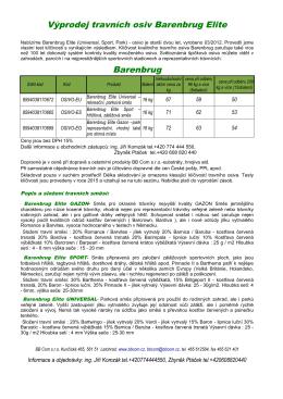 Výprodej travních osiv Barenbrug Elite Barenbrug