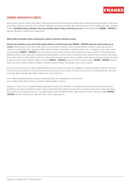 Údržba nerezových dřezů(407.70 kB, PDF)