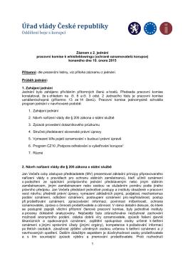 Záznam z jednání pracovní komise k WB_2015.02.19