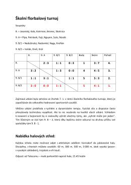Florbal STŽI – výsledky