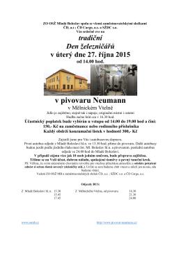 Den železničářů - ZO OSŽ Mladá Boleslav