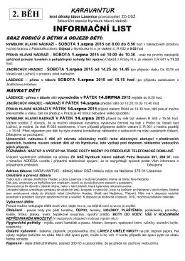 Info 2. běh 2015