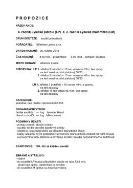 propozice_soutez lysicka_pistole 2015