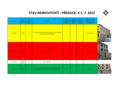 STAV NEMOVITOSTÍ - PŘEDLICE, K 1. 7. 2015