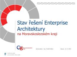 Stav řešení Enterprise Architektury