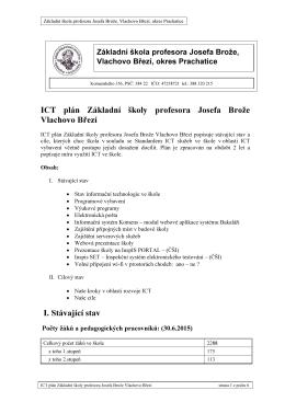 ICT plán 2015-2016 - Základní škola Vlachovo Březí