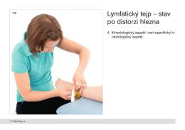 Lymfatický tejp – stav po distorzi hlezna