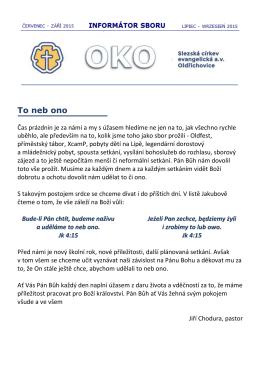 OKO - září 2015 - Slezská církev evangelická av Oldřichovice