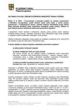 Číslo schůze: - OSH Plzeň