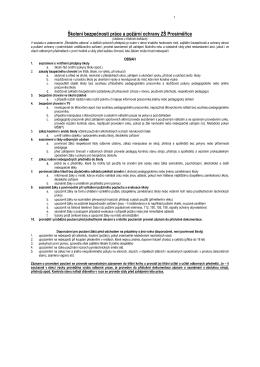 Bezpečnostní předpisy - základní škola prosiměřice