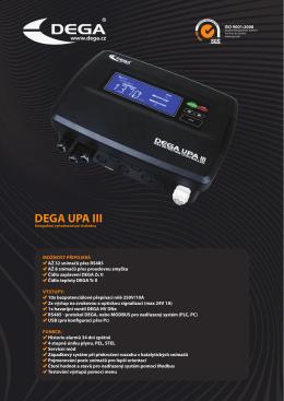 Katalog list DEGA UPA III