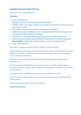 Program - Hasičské muzeum města Ostravy