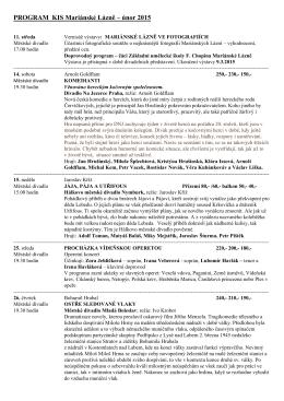 PROGRAM Rozvojového fondu - prosinec 99