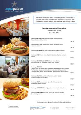 Hamburgery známé i neznámé Restaurace Astra