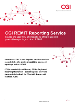 CGI REMIT Reporting Service (CZ)