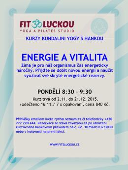 ENERGIE A VITALITA