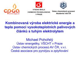 Michael Pohořelý Kombinovaná výroba elektrické energie a tepla