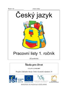 Český jazyk – 1. ročník