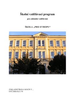 ANGLICKÝ JAZYK - Základní škola Kolín V