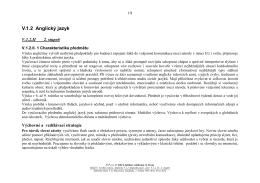 V.1.2 Anglický jazyk - Základní škola TG Masaryka ve Studénce