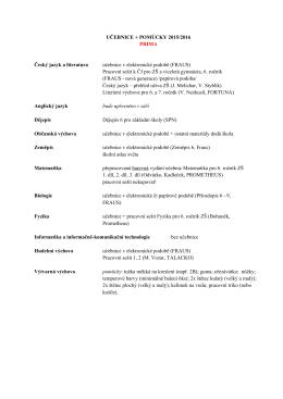 UČEBNICE + POMŮCKY 2015/2016 PRIMA Český jazyk a literatura