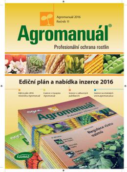 AGROMANUÁL Ediční plán a nabídka inzerce 2016