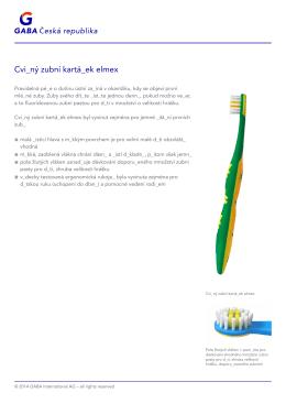- Cvičný zubní kartáček elmex